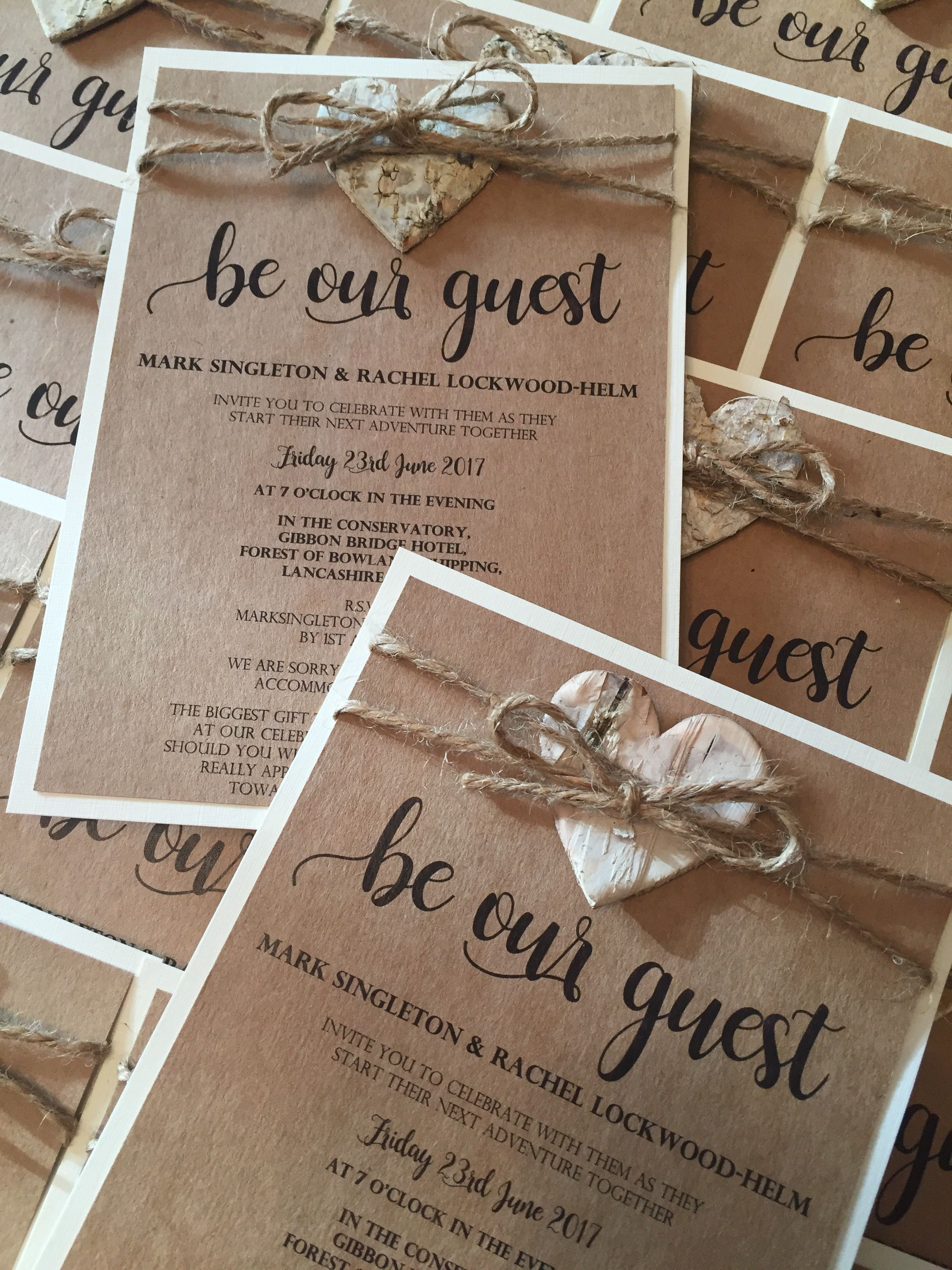 Birch Bark Heart Rustic Wedding Invitation Wedding Invitations Rustic Wedding Invitations Diy Rustic Wedding Invitations