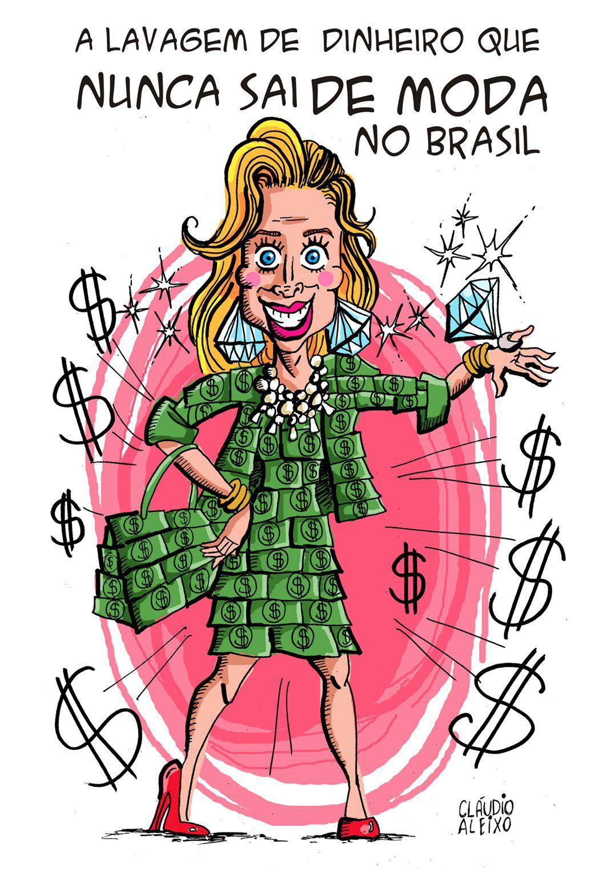 Charge Lavagem de dinheiro. Charge Cláudia Cruz. #caricatura #charge  #cartum #desenho #ilustração #claudiacruz | Caricatura, Quadrinhos hq,  Ilustrações
