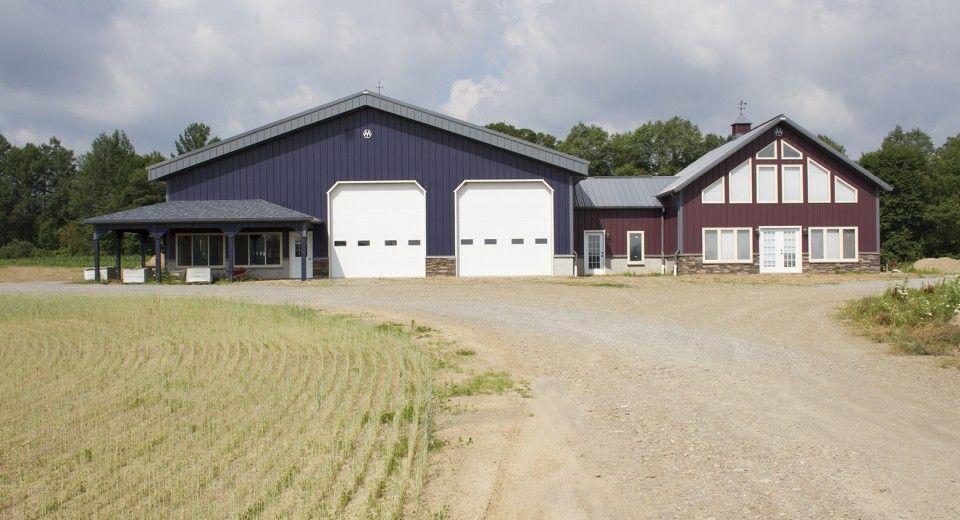 Morton Buildings Farm And Office Combination In Machias