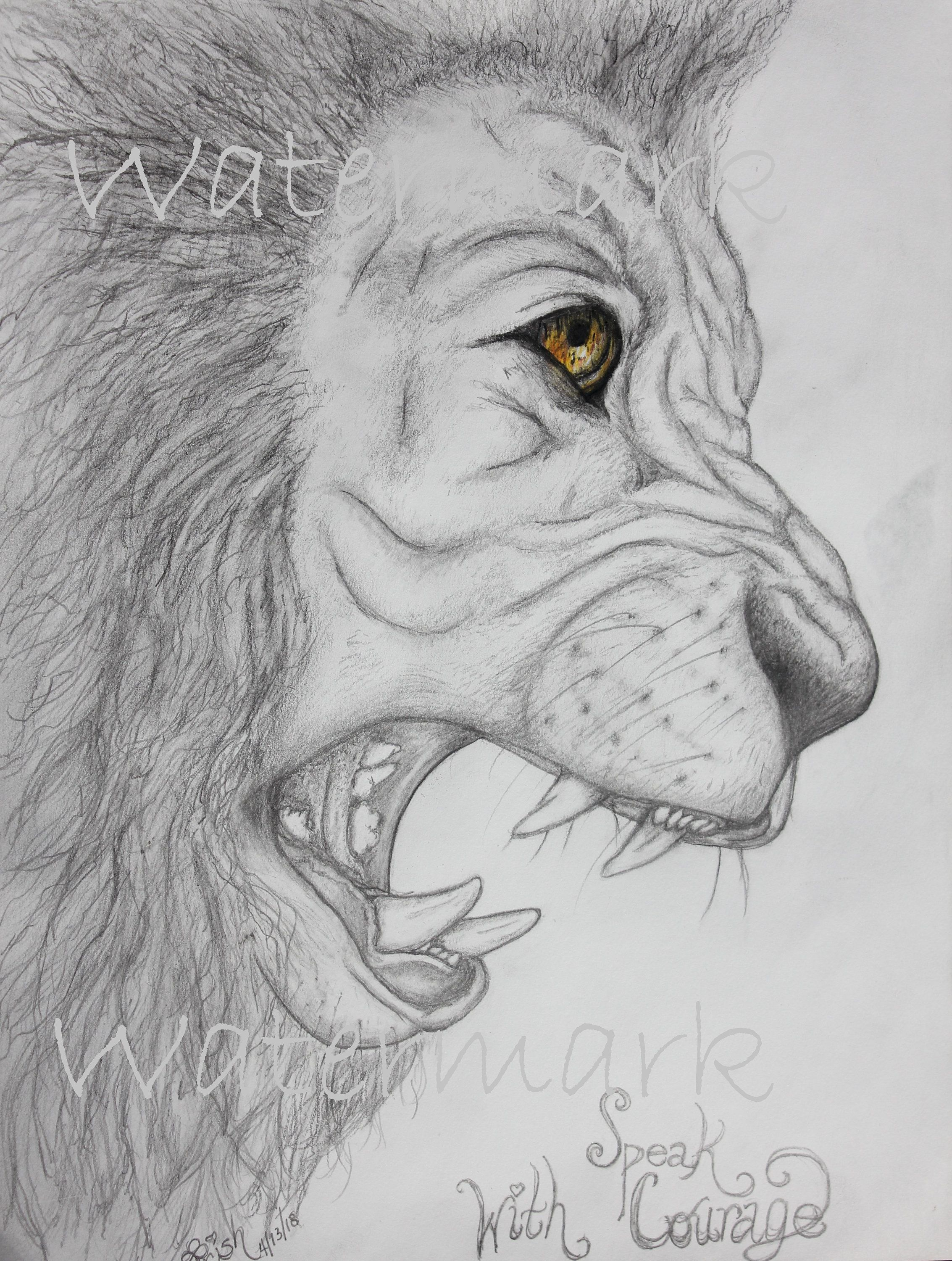 Sketch eyes speak with courage beautiful detail lion print courageous lion motivational lion art lion eyes fierce lion sketch lion courage drawing
