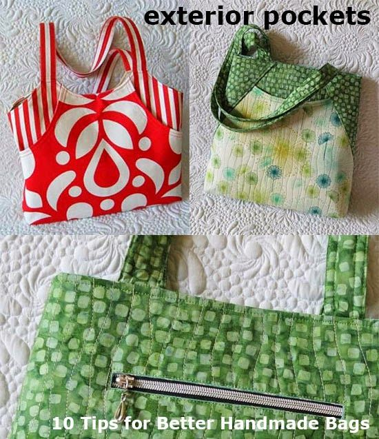 Geta's Quilting Studio: How to sew zippered pockets for bags