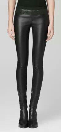 ee6efe42c9 Helmet Lang leather leggings - if only I had legs like this ...