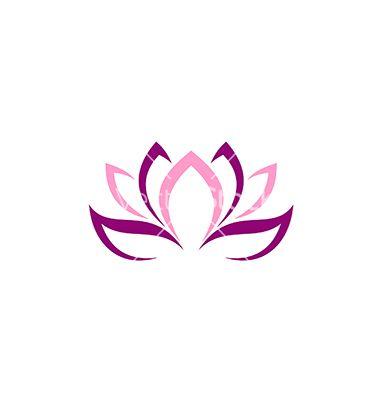Beauty Lotus Flower Abstract Logo Vector On Vectorstock Lotus Flower Tattoo Wrist Lotus Flower Images Lotus Flower Art