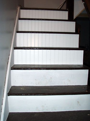 Beadboard Stair Risers.. Looks Like Our Next Weekend Project!