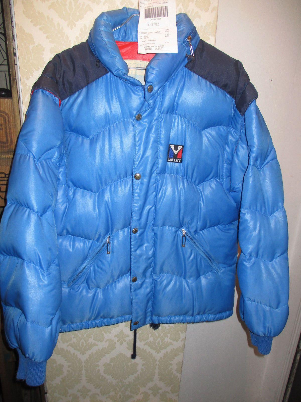 piumino MILLET*3(L)*PIUMA D'OCA* PANINARO* VINTAGE 80'S*GOOSEDOWN*vest/smanicato | eBay
