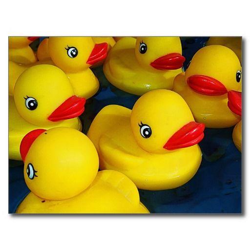 SOLD 8 Cute Rubber Ducky Postcards #zazzle
