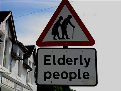 A Variation On Children At Play I Actually Think This Is A Great Idea Funny Road Signs Elderly People Getting Old