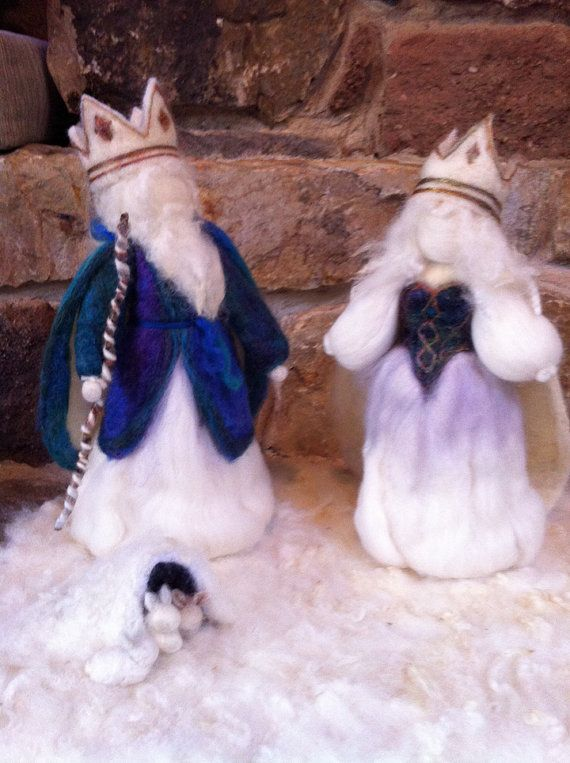 Winter King and Queen by MimiDesign20 on Etsy, $175.00