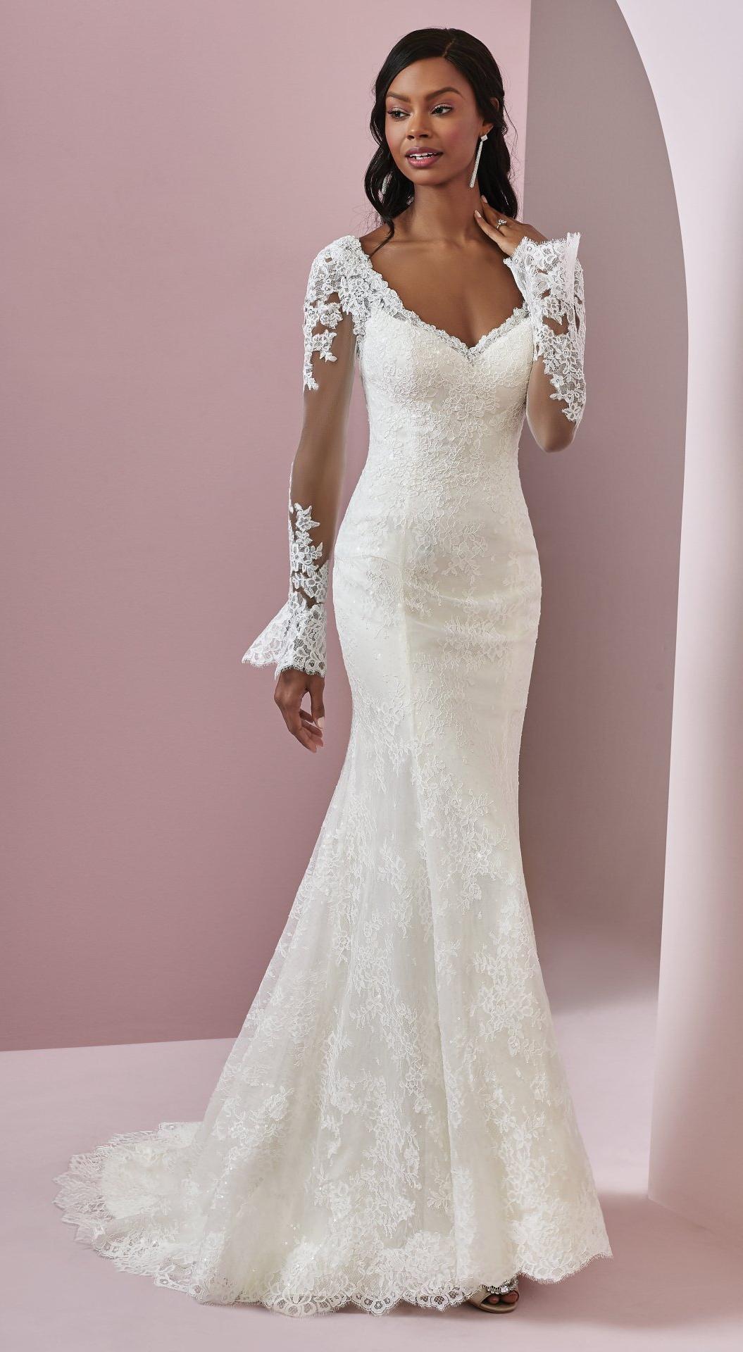 Lace dress bell sleeves june 2019 BONNIE by Rebecca Ingram Wedding Dresses  Unique  Pinterest