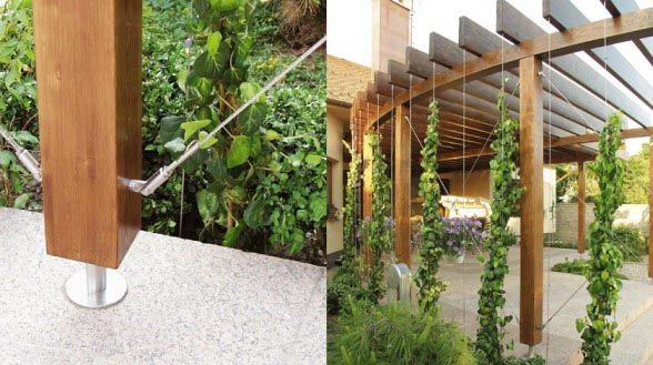 Modern trellis design home is where the for Contemporary garden trellis designs