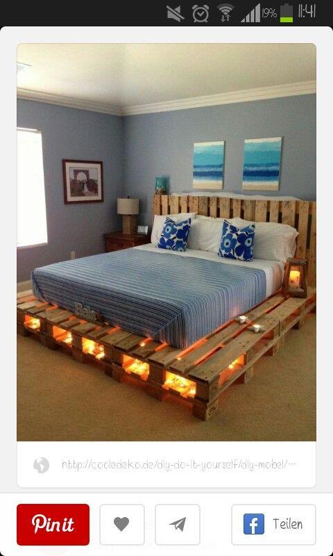 do it yourself palettenbett do it yourself pinterest bett schlafzimmer und m bel. Black Bedroom Furniture Sets. Home Design Ideas