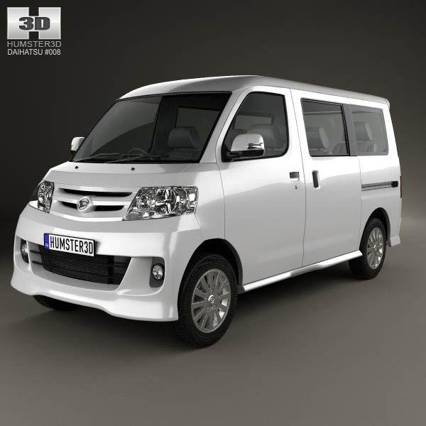 3d Model Of Daihatsu Luxio 2013 Coches