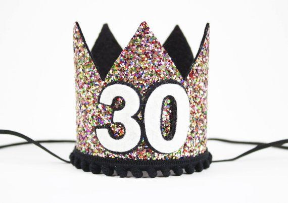Adult Birthday Crown Any Age