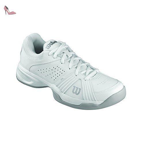 Wilson Nvision Carpet, Chaussures de Tennis Homme, Multicolore (White/White/Pearl Gray), 41 EU