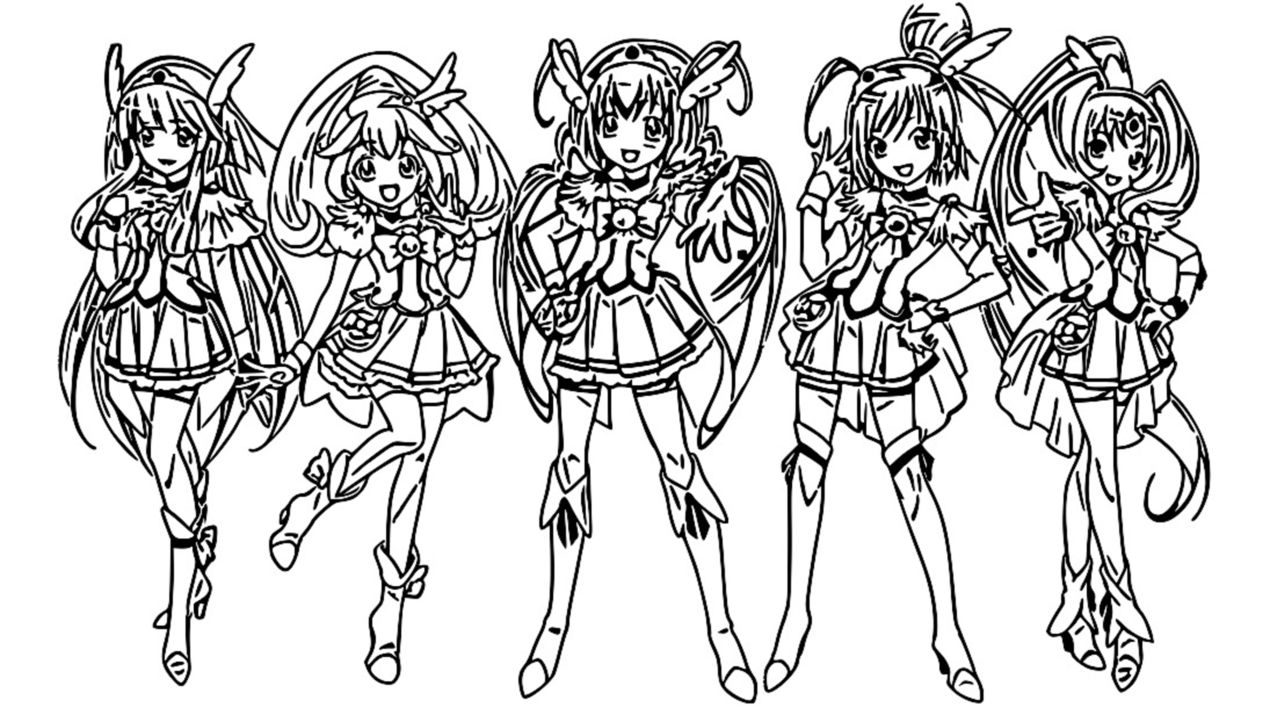 Glitter Force Coloring Page 067 1270×715 Coloring Sheets