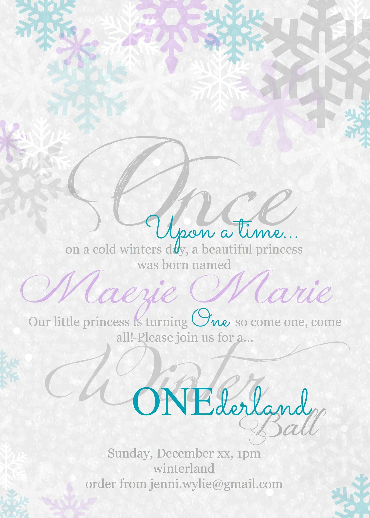 Beautiful Winter ONEderland First Birthday Party | Winter ...
