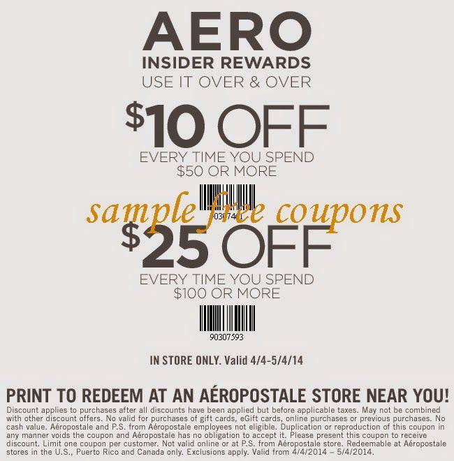 Aeropostale Coupons May 2014 Printable Coupons Macys Coupons Kohls Coupons