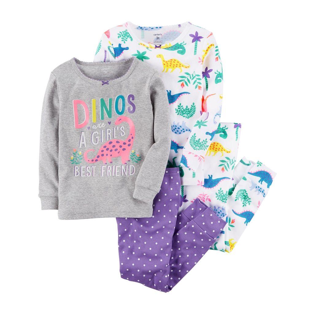 4b691430f Baby Girl Carter s 4-pc. Dinosaur Pajamas Set