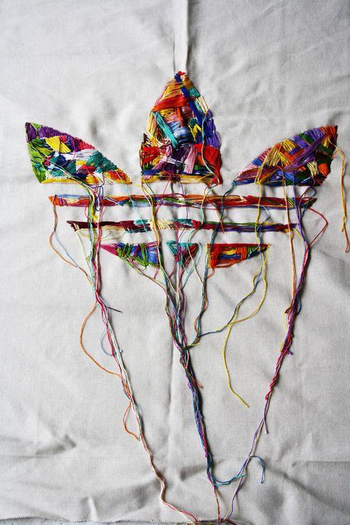 Threaded Adidas poster by Francesca Scalon and Anna Palama