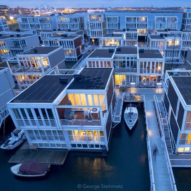 A Unique Floating Apartment Complex In Amsterdam Which