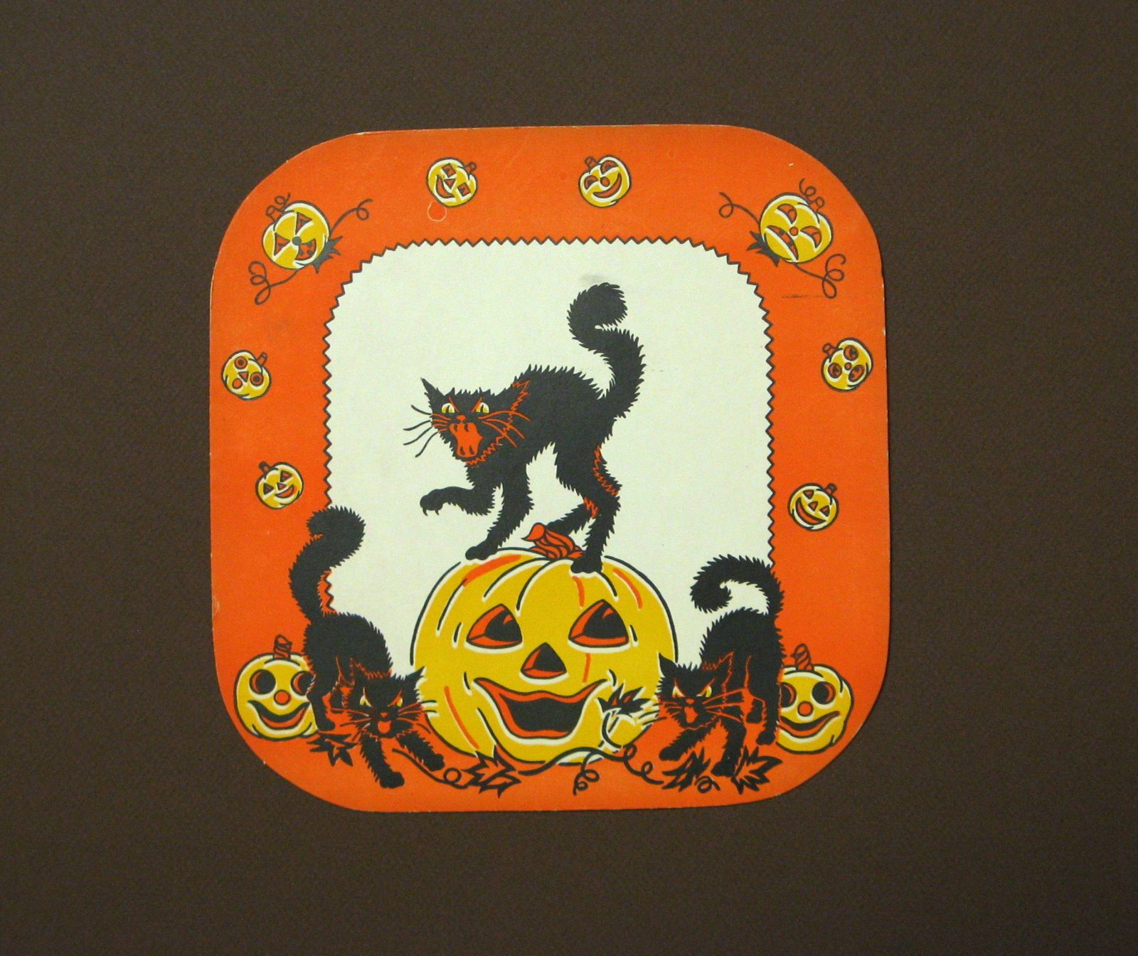 vintage halloween 1940s paper doily cats and jack o lantern vf to near mint ebay