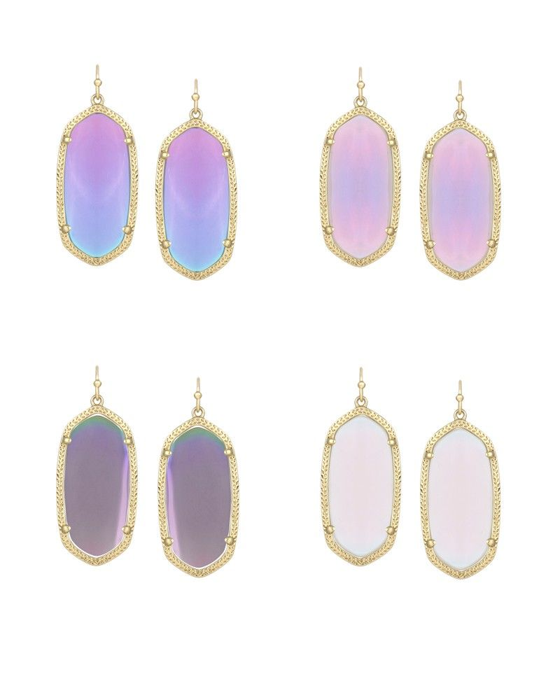 Elle Earrings In Iridescent Agate Kendra Scott Jewelry