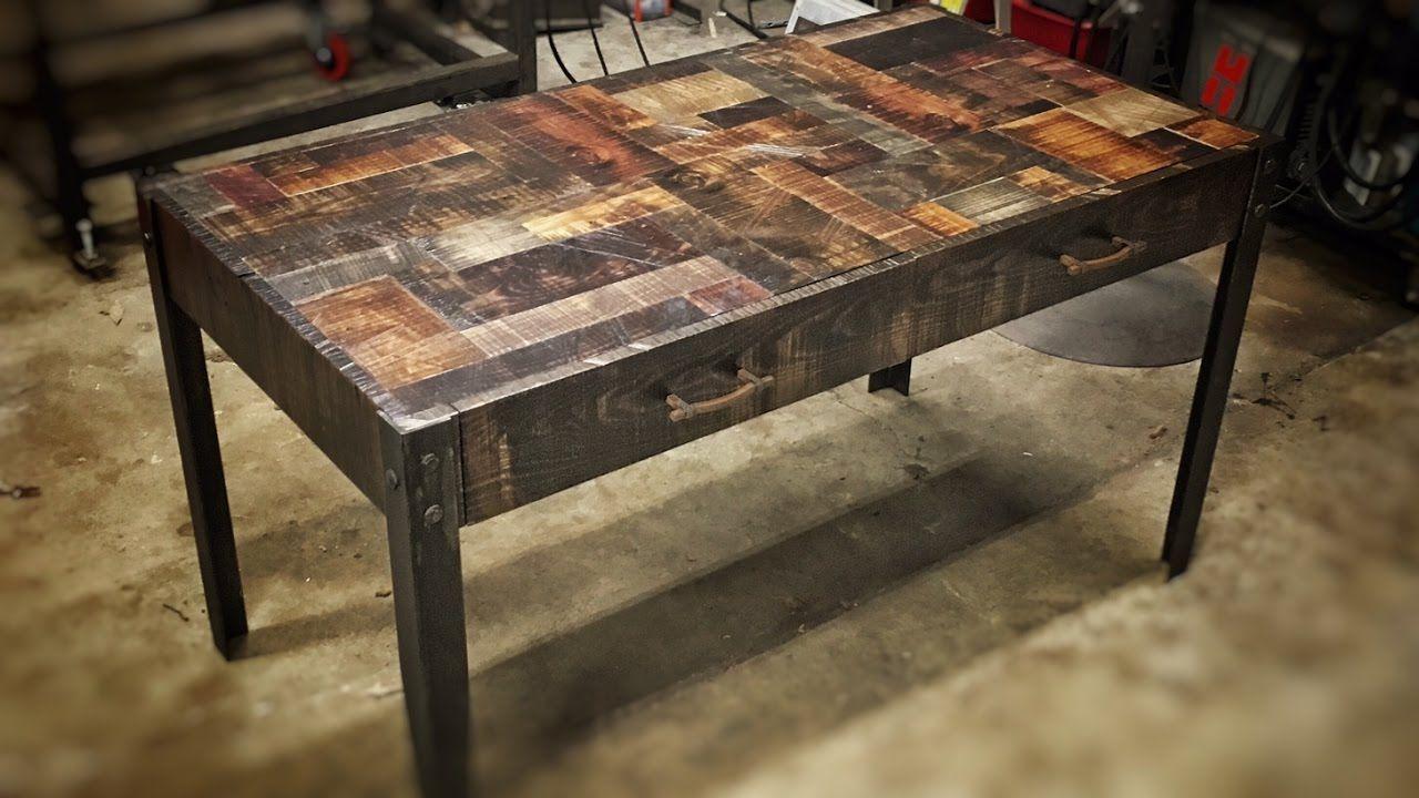 Building A Rustic Industrial Desk Rustic Desk
