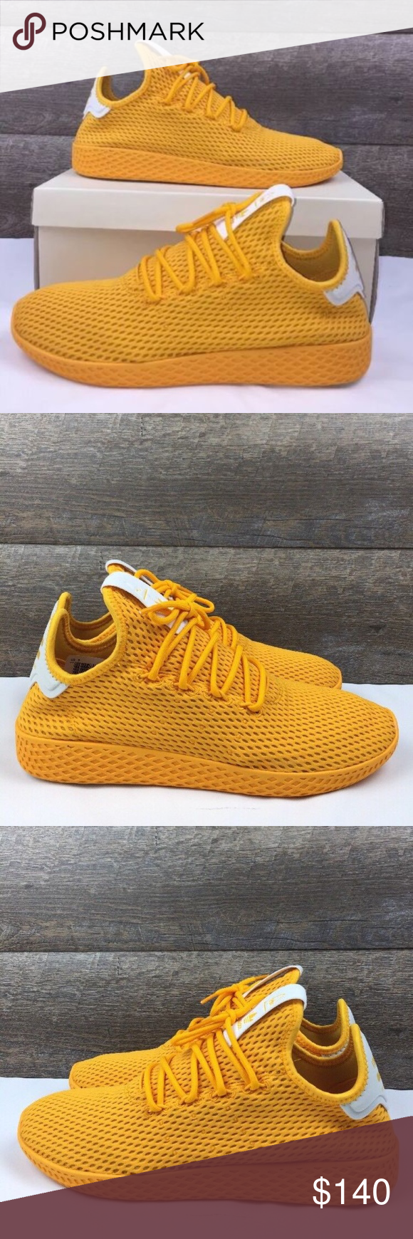 efc21dfef Adidas Pharrell Williams PW Tennis HU Shoes Style   CP9767 Brand new With Box  Yellow and White adidas Shoes Athletic Shoes