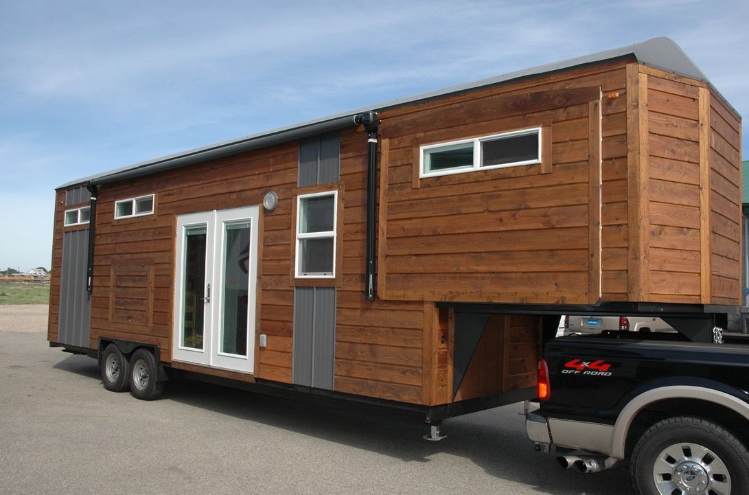 34 Gooseneck Tiny House With 3 Slide Outs Sold For 66k Tiny House Trailer Tiny House Towns Tiny House Talk