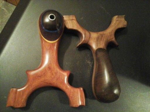 Custom Slingshots from Exotic hardwoods from around thw world
