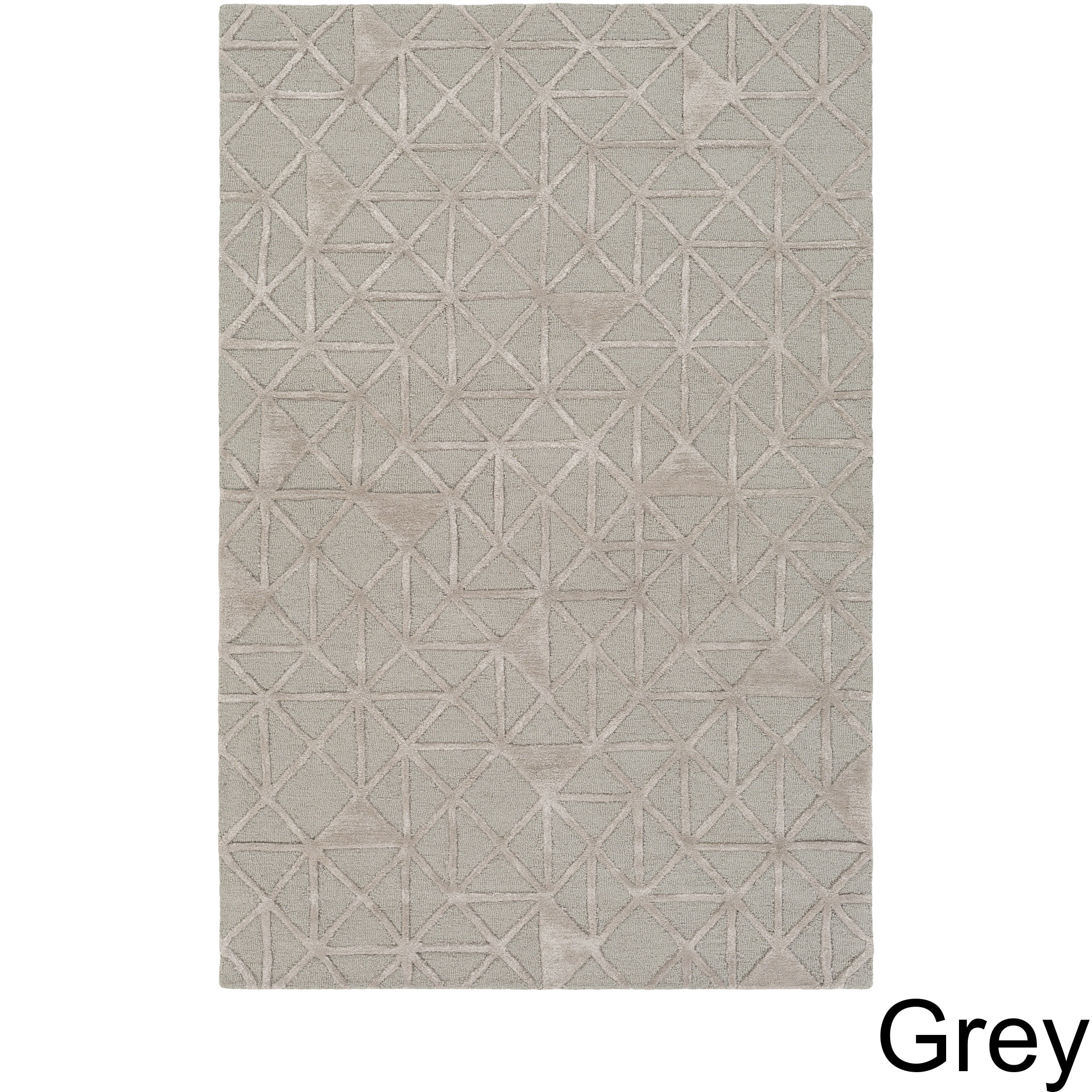 Hand Tufted Dubois Wool Area Rug 5 X 7 6 Grey Taupe Size 5