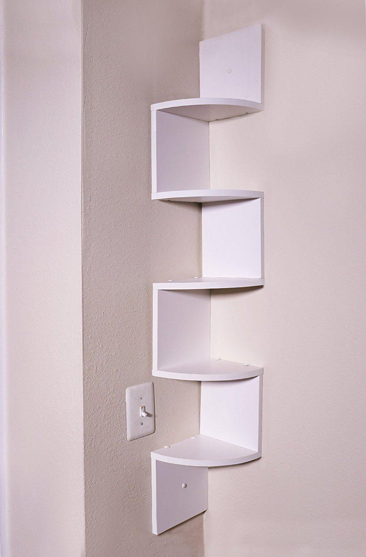 Adorn Home Essentials Corner Zig Zag Wall Mount Shelves