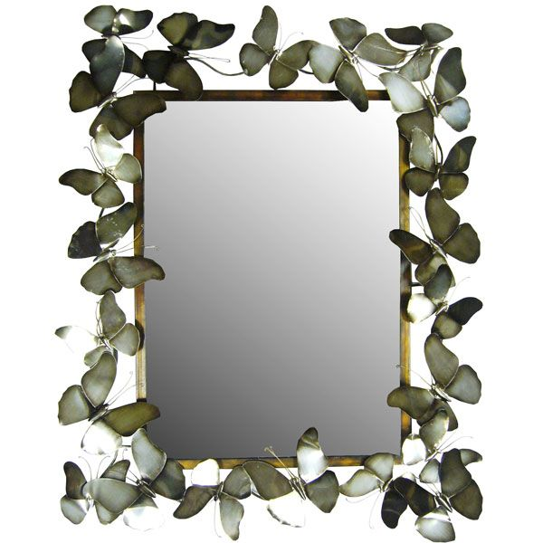 Butterfly Bevelled Mirror