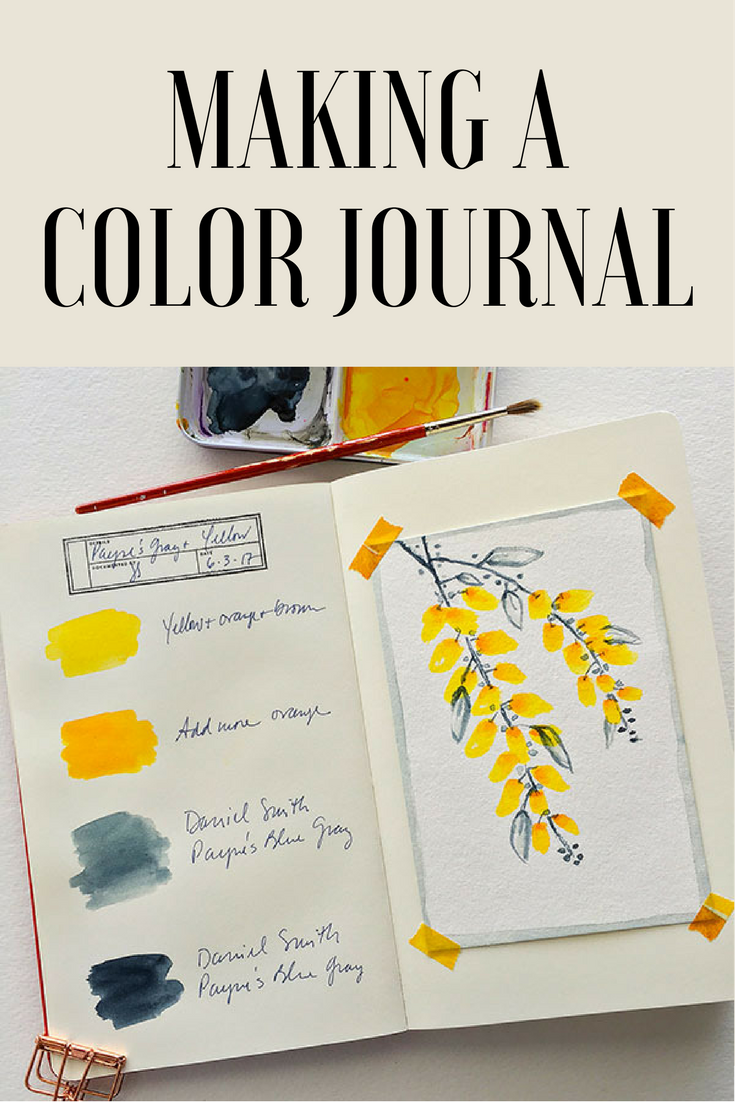 How To Make A Color Journal Cloth Paper Scissors Watercolor Art Journal Coloring Journal Art Journal Techniques