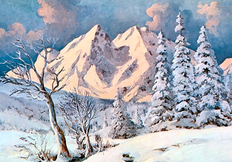 Alpine Winter ~ Alexander Dzigurski