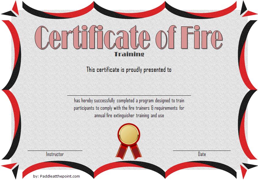 Fire Extinguisher Certificate Template (3 Certificate