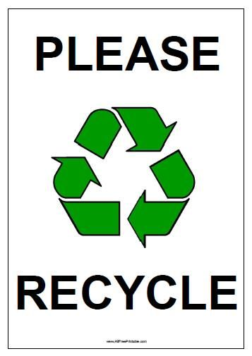 image regarding Recycle Sign Printable identified as Absolutely free Printable Remember to Recycle Signal Outside exciting Recycling
