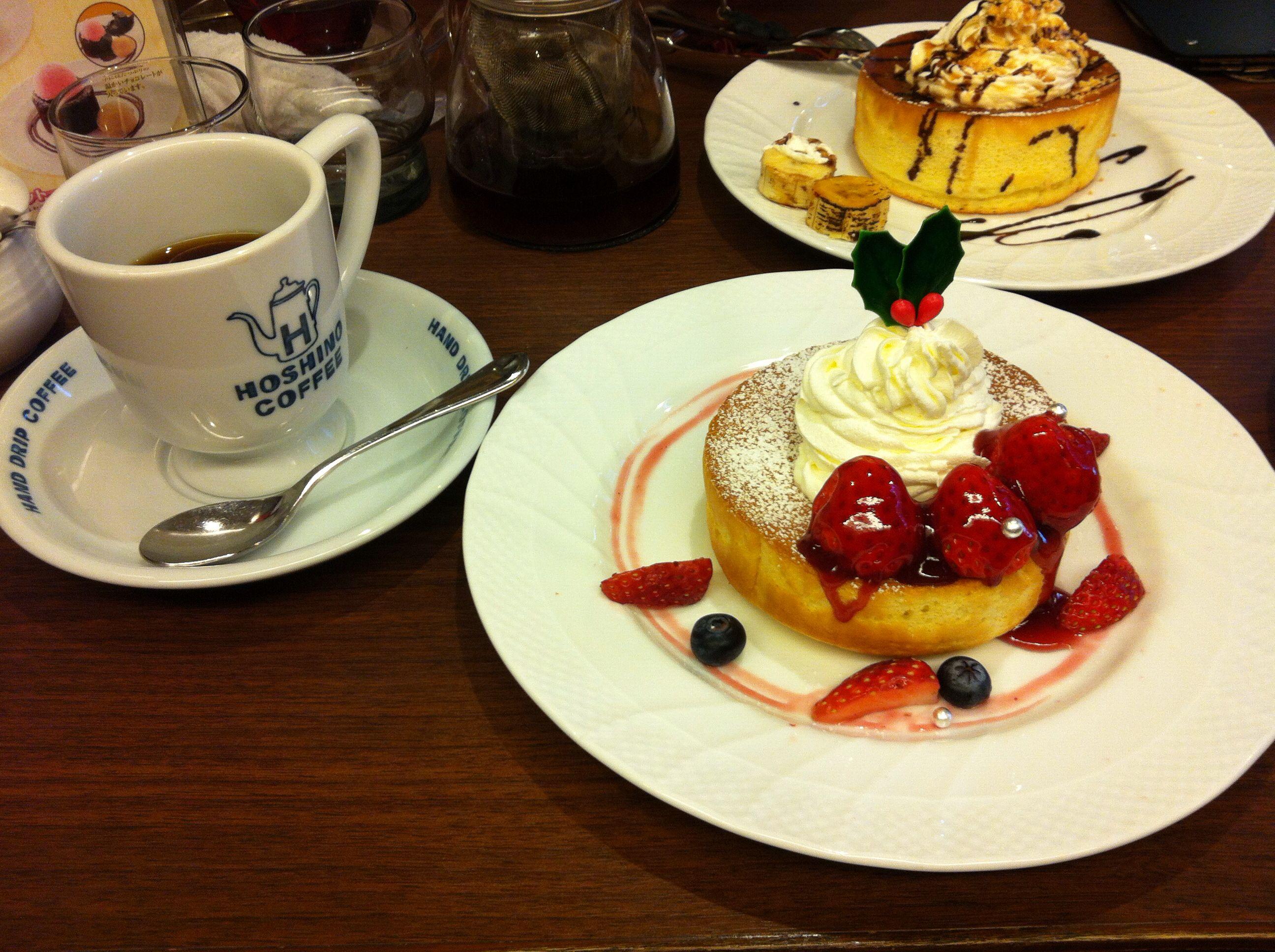 크리스마스 스트로베리&초콜릿 바나나 팬케이크