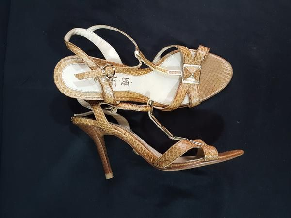 L.A.M.B Snakeskin Sandals size 6.5 Sandals, Shoes