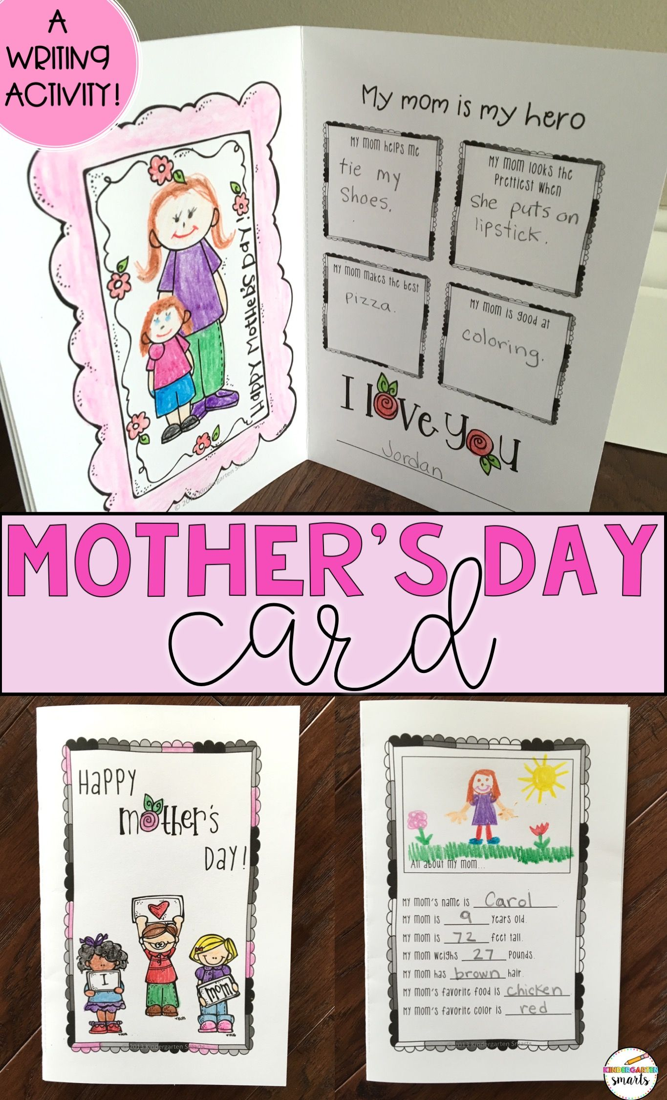 Mother S Day Card Mothers Day Book Mother S Day Activities