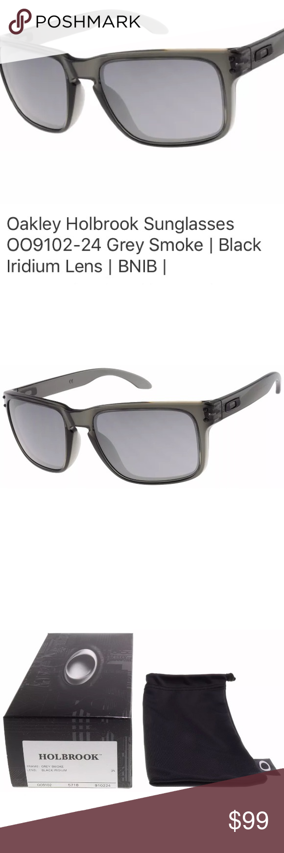 3f3890f187 Oakley Holbrook Sunglasses Iridium Lens New in box. Comes with soft carry  case Oakley Holbrook Sunglasses OO9102-24 Grey Smoke