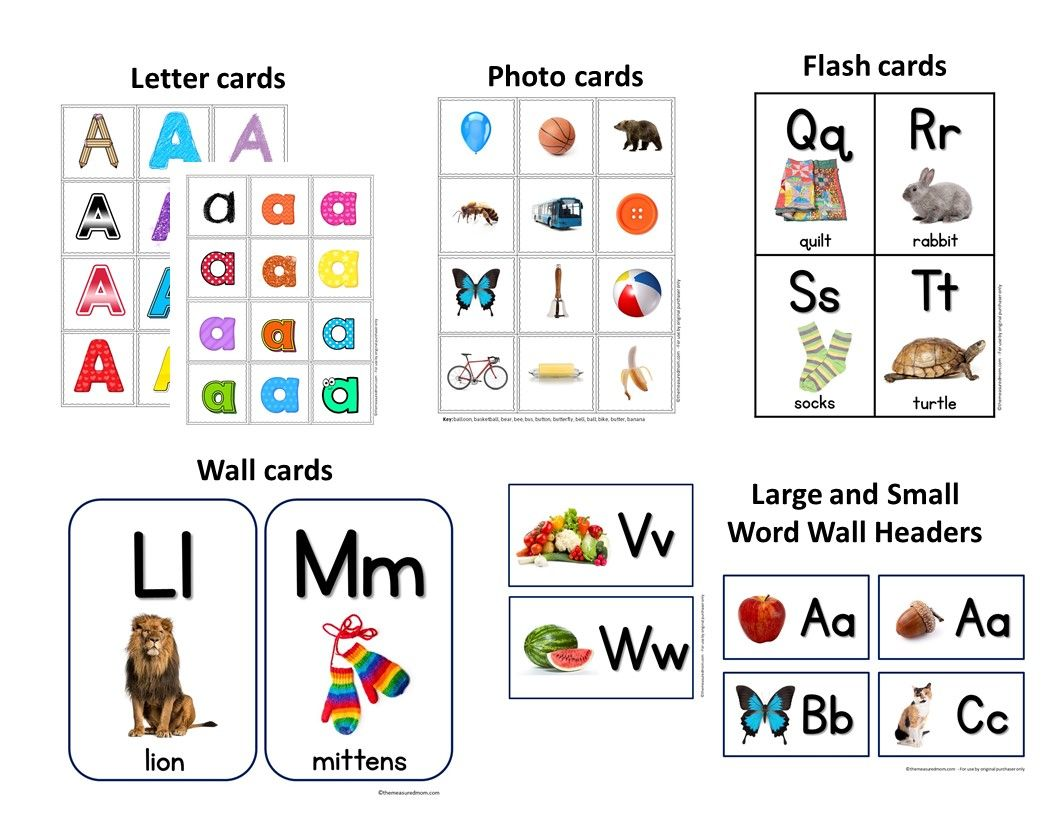 A Z Letter Cards Photo Cards Alphabet Flash Cards Amp More