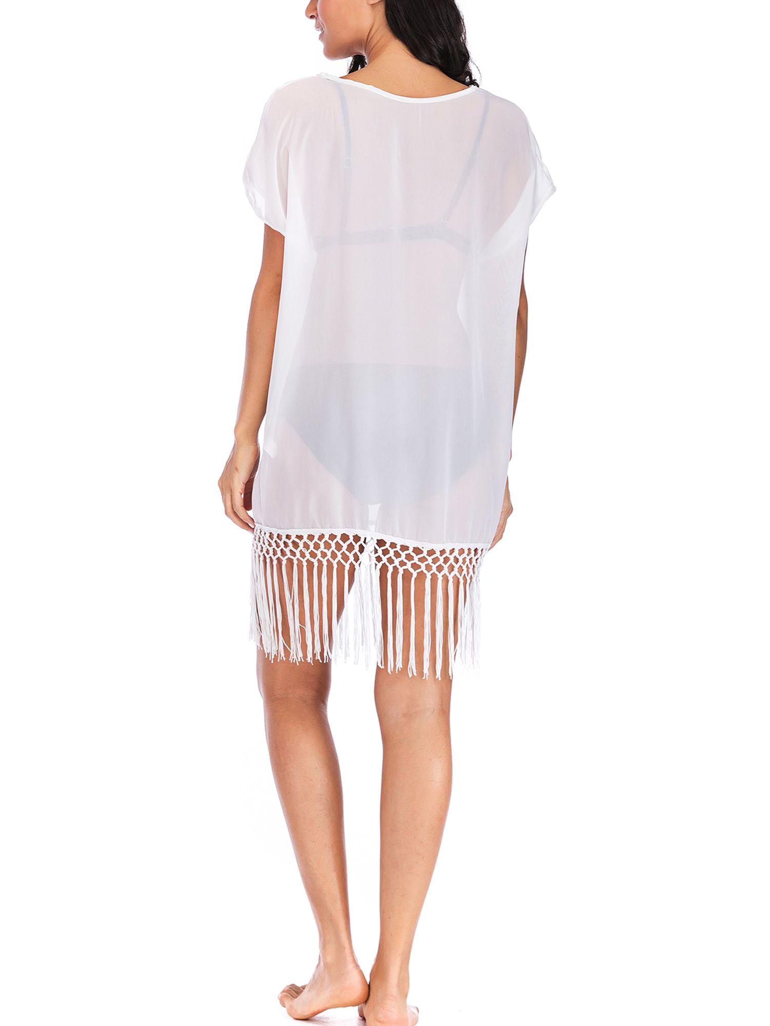 63e845656913d SAYFUT Juniors  Bathing Suit Cover up Beach Bikini Wrap Swimsuit Swimwear  Dress Trim Kaftan Loose