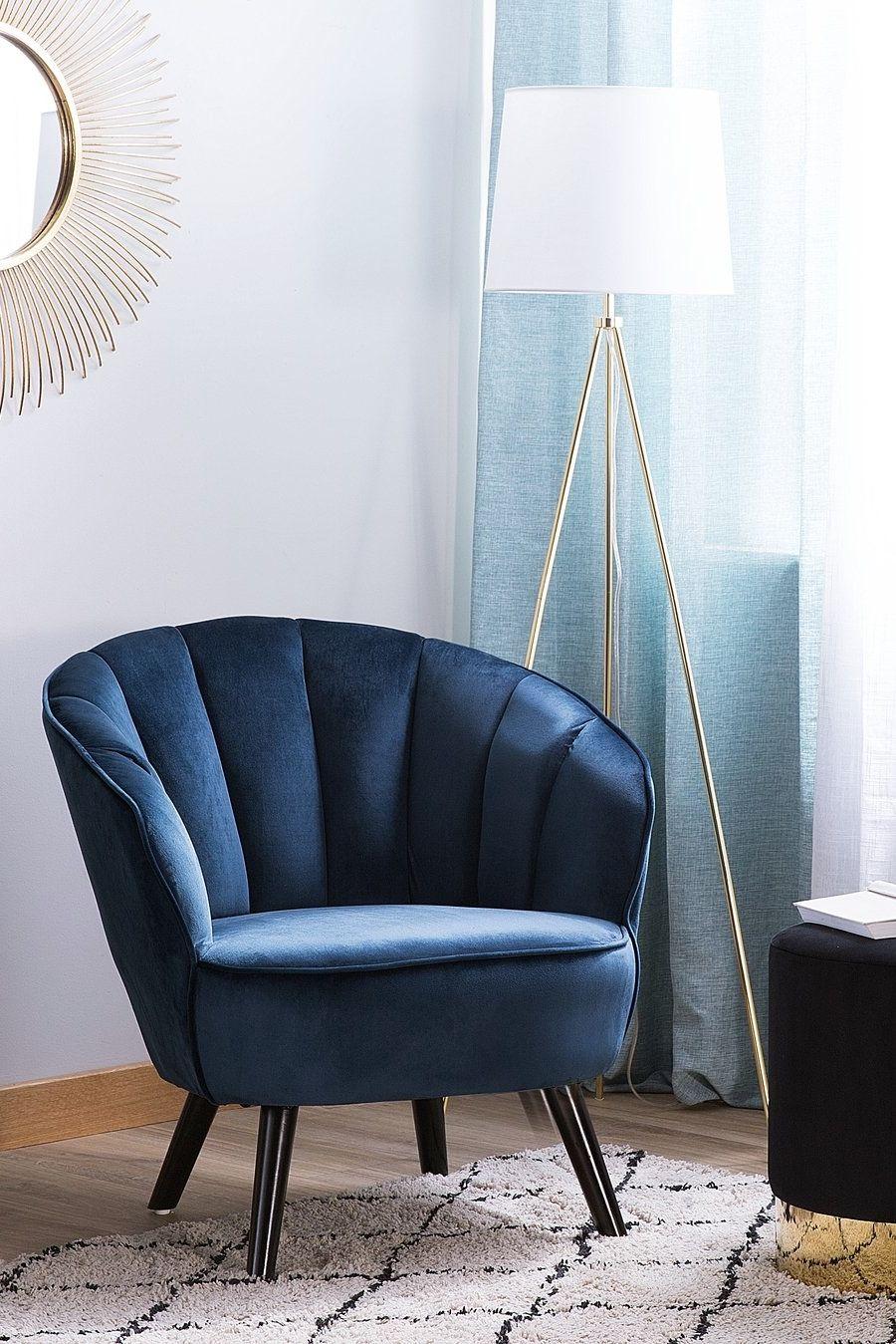 Fotel Welur Granatowy Dala Salon W 2019 Wystrój Meble I