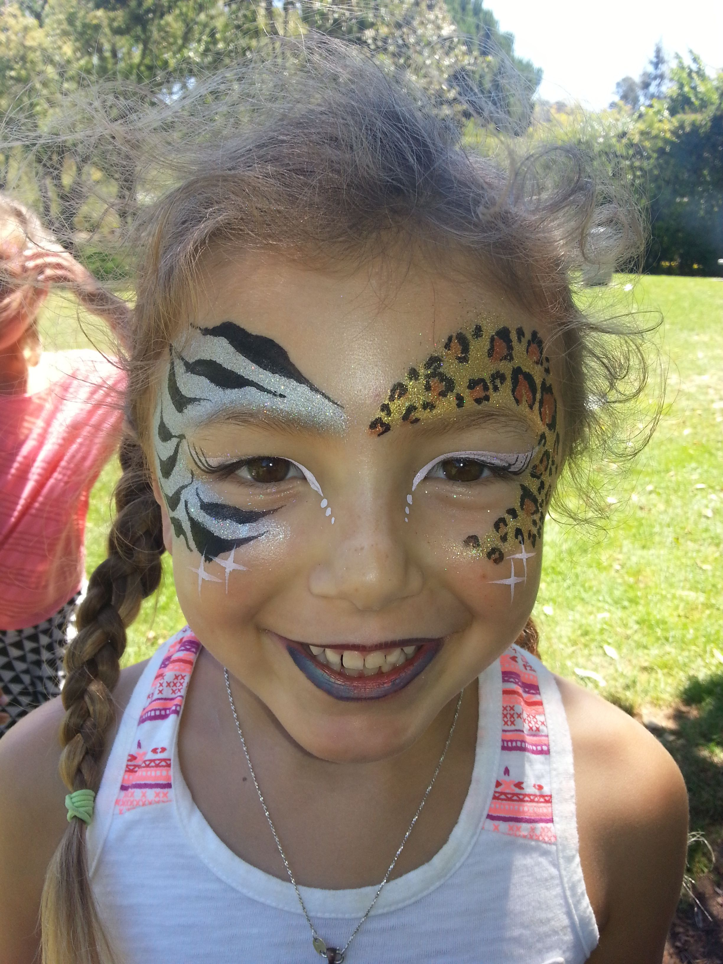 animal print face paint by cynnamon bay area party ent face and