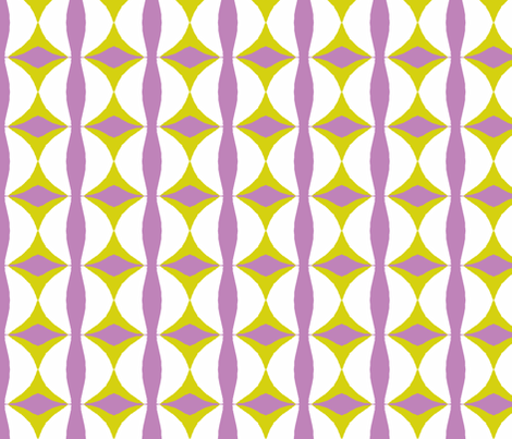 Lilac Fabric | Mid Century Style | Spoonflower