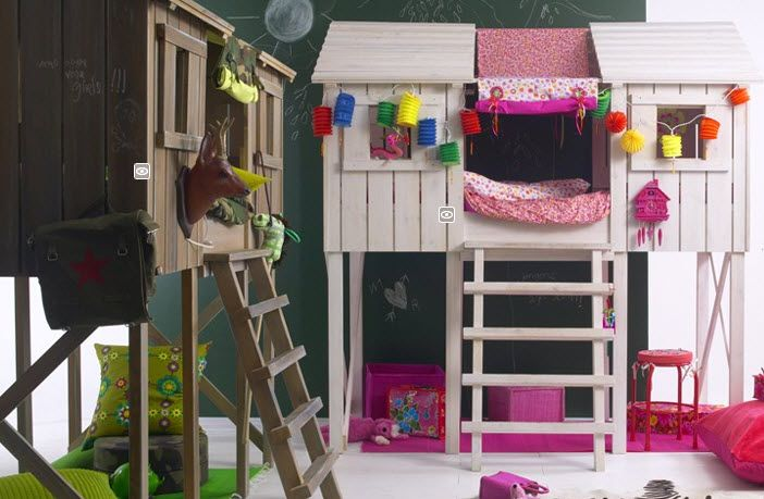 Beste Treehouse loft bed/bunk bed (Playhouse style loft bed with IN-29