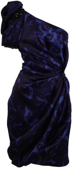 MARCHESSA   One Shoulder Leopard Print Dress - Lyst
