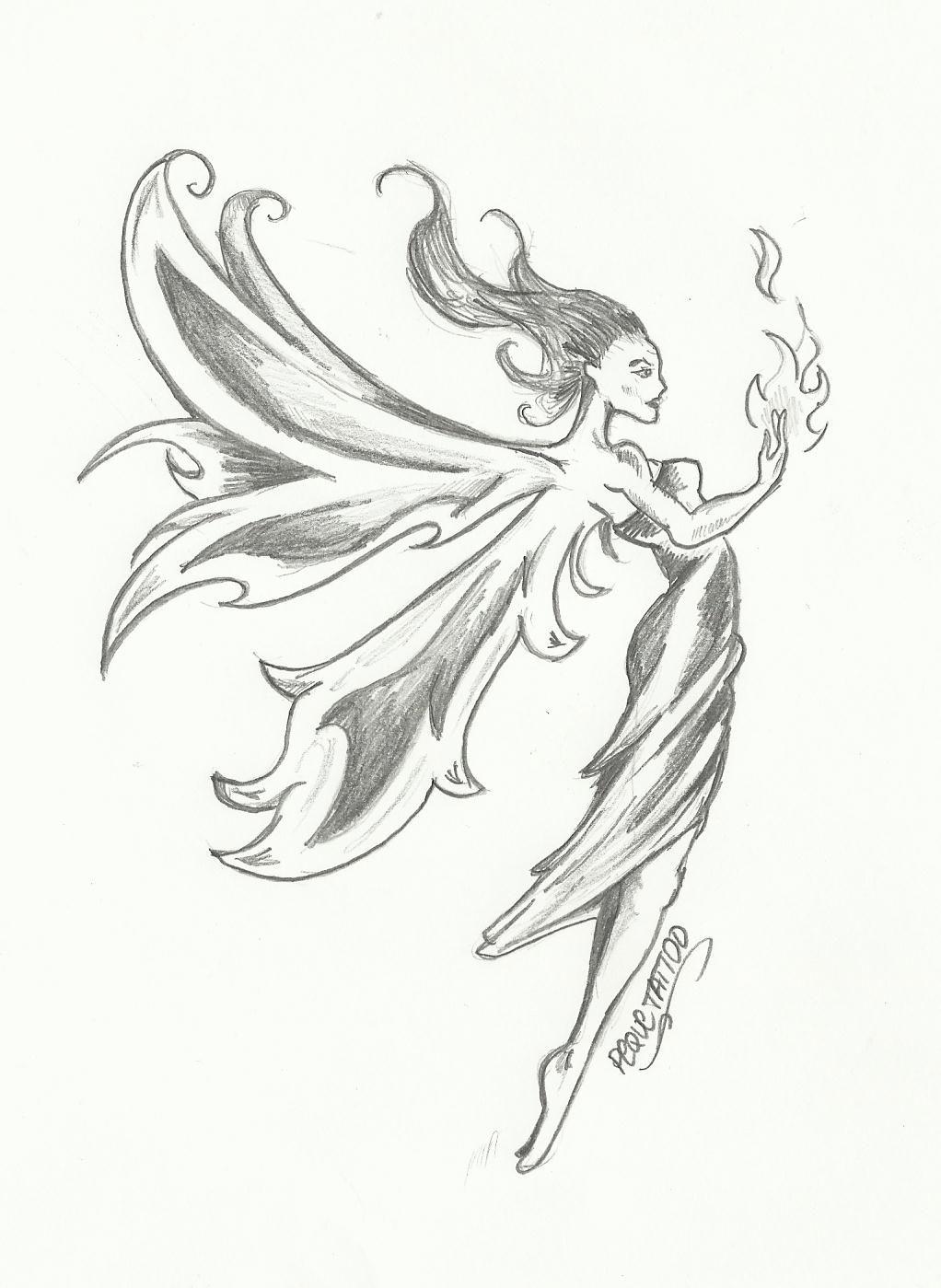 imagenes de dibujos a lapiz de hadas