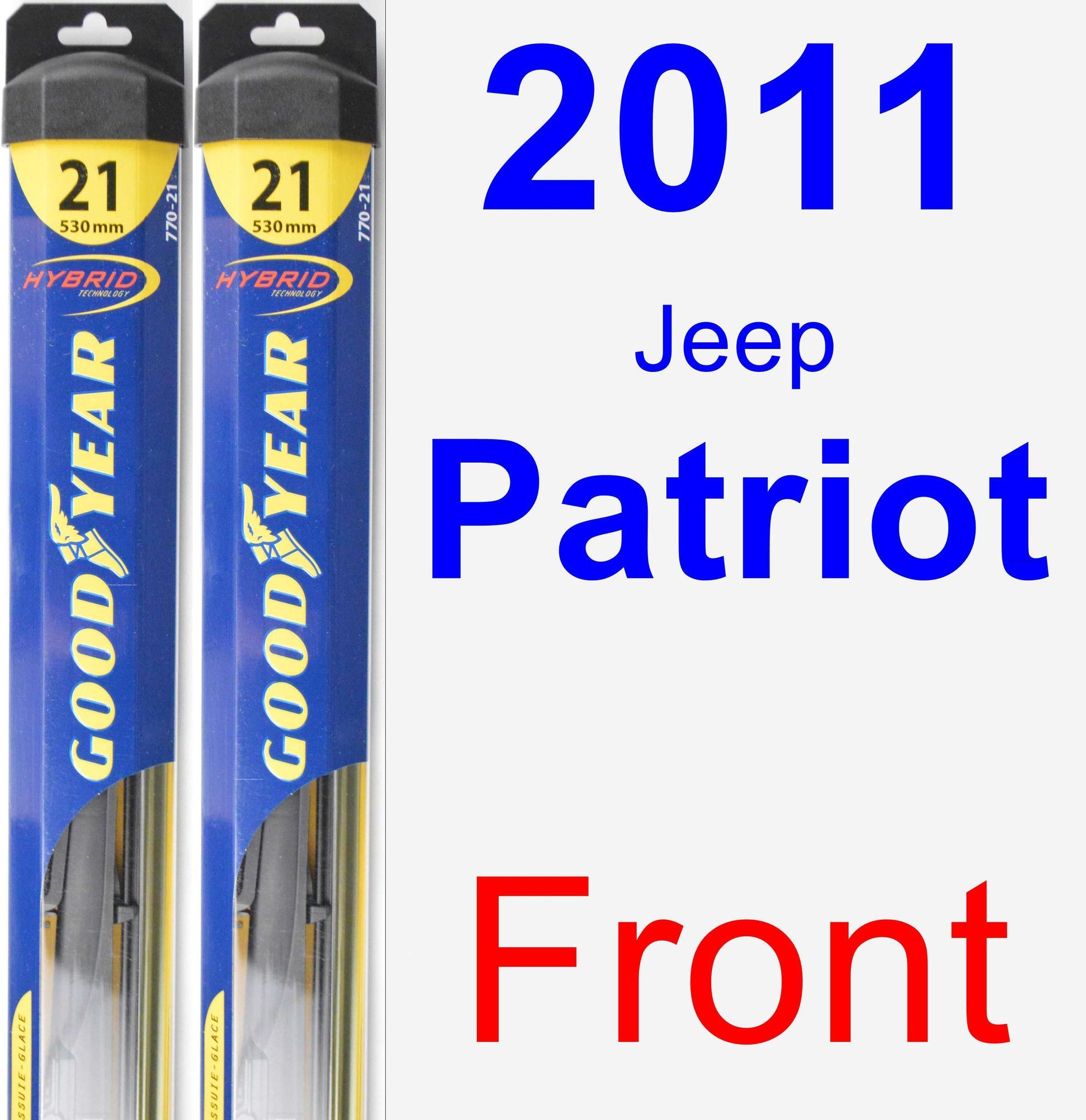 Front Wiper Blade Pack For 2017 Jeep Patriot Hybrid